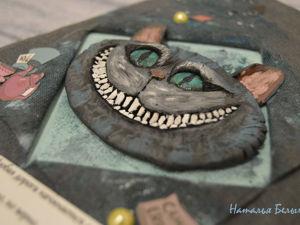 Лепим Чеширского кота для обложки ежедневника. Ярмарка Мастеров - ручная работа, handmade.