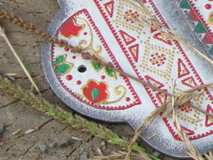 Расписываем заготовку контурами с имитацией вышивки. Ярмарка Мастеров - ручная работа, handmade.