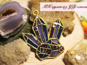 Creating Crystals Pendant of UV Resin. Livemaster - handmade