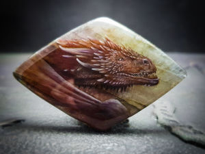 Кабошон  «Дракон». Ярмарка Мастеров - ручная работа, handmade.
