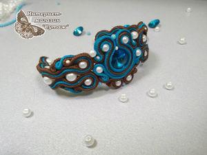 """Создаем очаровательный сутажный браслет """"Аквамарин"""". Ярмарка Мастеров - ручная работа, handmade."""