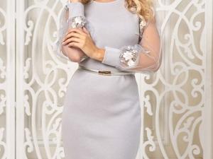 Аукцион на Вязаное элегантное платье! Старт 3000 р.!. Ярмарка Мастеров - ручная работа, handmade.
