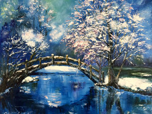 Зимняя река. Ярмарка Мастеров - ручная работа, handmade.
