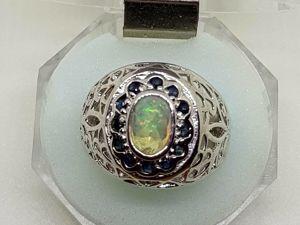Видео кольца с натуральным Эфиопским опалом. Ярмарка Мастеров - ручная работа, handmade.