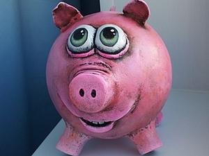 Свинка-копилка своими руками. Ярмарка Мастеров - ручная работа, handmade.