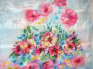 Мастер-класс: купон под пошив платья в технике свободная роспись. Ярмарка Мастеров - ручная работа, handmade.