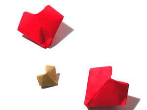 Объемное сердце оригами. Ярмарка Мастеров - ручная работа, handmade.
