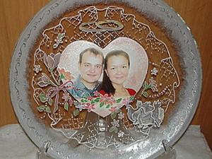 Прозрачная декоративная тарелка с фотографией. Ярмарка Мастеров - ручная работа, handmade.