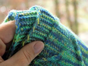 Процесс вязания резинки на спицах бесповоротным способом. Ярмарка Мастеров - ручная работа, handmade.