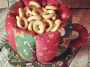 Шьем новогоднюю интерьерную Чашечку. Часть 1. Ярмарка Мастеров - ручная работа, handmade.