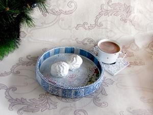 Дополнительные фото — Кофейный поднос  «Маки на лугу». Ярмарка Мастеров - ручная работа, handmade.