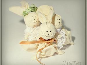 Ручные Пасхальные Кролики. Ярмарка Мастеров - ручная работа, handmade.