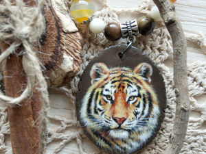 Кулон с тигром. Ярмарка Мастеров - ручная работа, handmade.