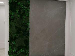 Водопад по керамограниту  с панелью из стабилизированного мха. Ярмарка Мастеров - ручная работа, handmade.