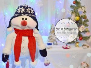 Видео урок: Шьем снеговика на длинных ножках. Ярмарка Мастеров - ручная работа, handmade.