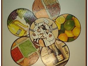 Подставки под чашки из CD- дисков. Ярмарка Мастеров - ручная работа, handmade.