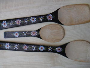 Роспись деревянных кухонных лопаток. Ярмарка Мастеров - ручная работа, handmade.