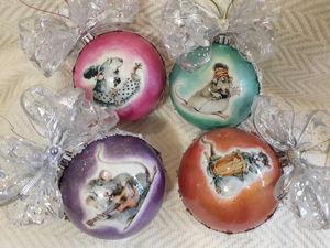Новогодние шары на ёлку. Ярмарка Мастеров - ручная работа, handmade.