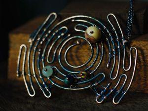 Процесс создания колье «Лабиринт» из медной проволоки. Ярмарка Мастеров - ручная работа, handmade.