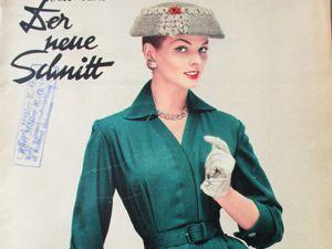 Schwabe der neue Schnitt — журнал мод 1/1958. Ярмарка Мастеров - ручная работа, handmade.