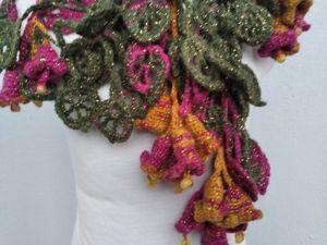 Авторские оригинальные шарфики от 1300 руб. Ярмарка Мастеров - ручная работа, handmade.