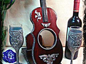 Мини-бар с фужерами Скрипка. Ярмарка Мастеров - ручная работа, handmade.