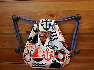 Шьем морской рюкзак. Ярмарка Мастеров - ручная работа, handmade.