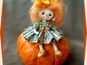 Тыковка — маленькая куколка. Ярмарка Мастеров - ручная работа, handmade.