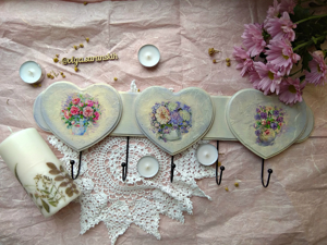 Hanger Decoupage: Simple Decor with Children. Livemaster - hecho a mano - handmade.