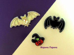 Создаем броши из бисера на Хэллоуин. Ярмарка Мастеров - ручная работа, handmade.