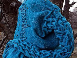 """""""Эльфийская сказка"""": валяем капюшон с косами. Ярмарка Мастеров - ручная работа, handmade."""
