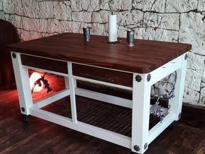 Делаем стол-остров на колесиках для дома и дачи. Ярмарка Мастеров - ручная работа, handmade.