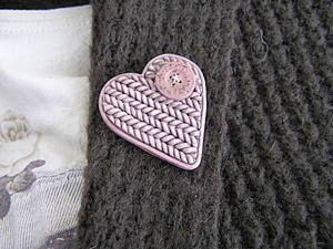 How to Make a Polymer Clay Brooch Imitating Knitting. Livemaster - handmade