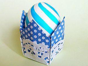 Мастер-класс: корзинка-оригами для пасхального яйца. Ярмарка Мастеров - ручная работа, handmade.