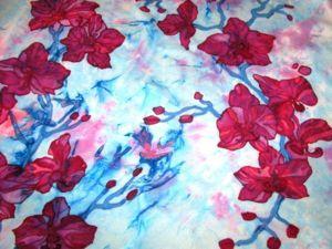 Расписываем платок в технике узелковый и холодный батик. Ярмарка Мастеров - ручная работа, handmade.