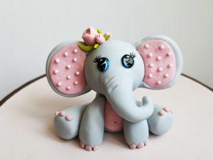 Пошаговый мастер-класс: «Лепка слонёнка из сахарной пасты». Ярмарка Мастеров - ручная работа, handmade.