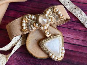 Мастер-класс: создаем весеннее колье «Золотое цветение». Ярмарка Мастеров - ручная работа, handmade.