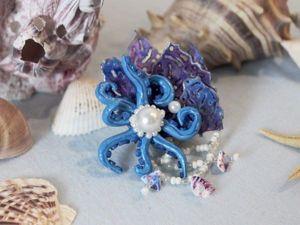 Как сделать заколку «У берегов Атлантиды» из Эва-фома и фоамирана. Ярмарка Мастеров - ручная работа, handmade.