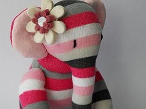 Шьем симпатичного слоника из носка. Ярмарка Мастеров - ручная работа, handmade.
