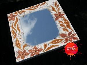 Создаем зеркало в раме с декоративной росписью. Ярмарка Мастеров - ручная работа, handmade.