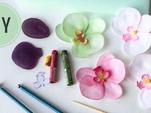 Видео мастер-класс по созданию орхидеи из фоамирана. Ярмарка Мастеров - ручная работа, handmade.