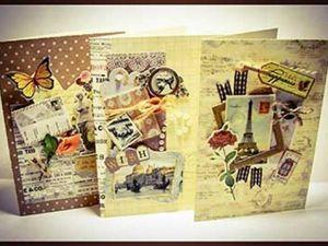 Мастер класс по скрапбукингу на примере набора  для создания открыток  «Винтаж». Ярмарка Мастеров - ручная работа, handmade.