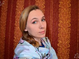 Роспись шёлкового шарфа  «Милые долгопяты!». Ярмарка Мастеров - ручная работа, handmade.