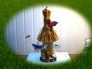 Мастерим домик из бутылки на березовом спиле. Ярмарка Мастеров - ручная работа, handmade.