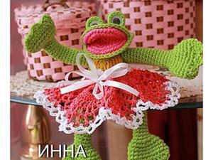 "Как связать игрушку ""Лягушку-веселушку"". Ярмарка Мастеров - ручная работа, handmade."