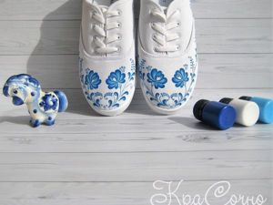 Create Bright Sneakers! DIY Project on Painting Your Shoes. Livemaster - handmade