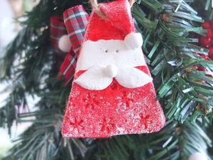 Мастерим с детьми. Елочная игрушка «Санта». Ярмарка Мастеров - ручная работа, handmade.