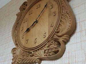 Настенные часы из дерева. Ярмарка Мастеров - ручная работа, handmade.