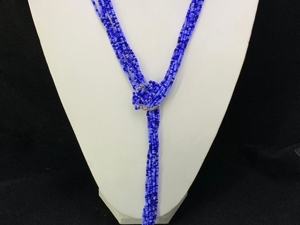 Синее колье-лассо даром. Ярмарка Мастеров - ручная работа, handmade.