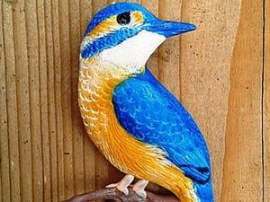 """Делаем брошь """"Зимородок"""" из полимерной глины. Ярмарка Мастеров - ручная работа, handmade."""